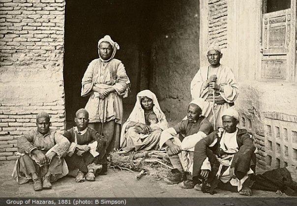 Group of Hazaras, 1881 (Photo: B. Simpson)
